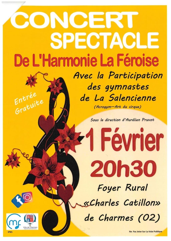 Concert spectacle de l'Harmonie La Féroise