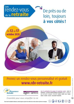6e édition des Rendez-vous de la retraite du 12 au 17 octobre 2020 organisée par l'Agirc-Arrco et l'Assurance retraite
