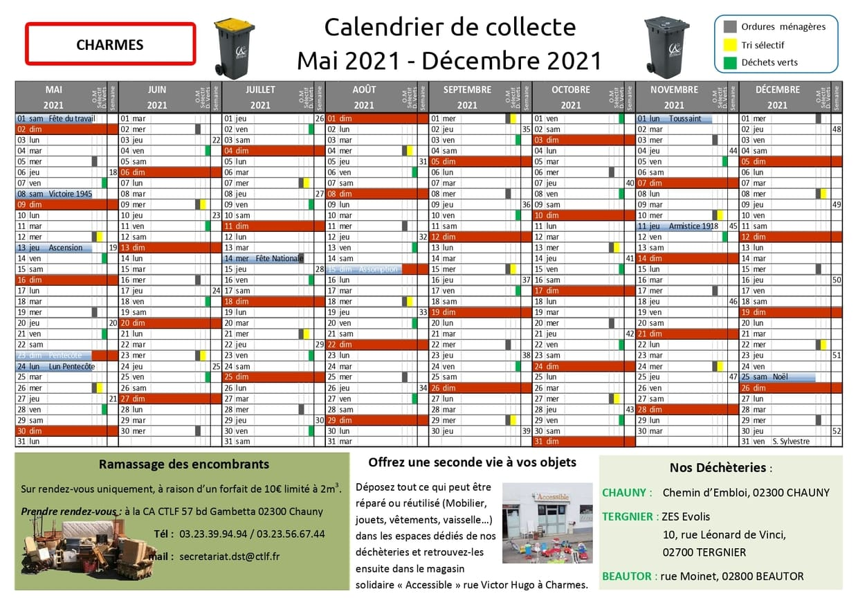 Nouveau calendrier de collecte des déchets   Ville de Charmes
