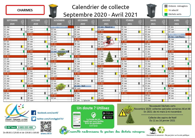 Calendrier De Ramassage Des Ordures Ménagères 2021 Nouveau calendrier de collecte des déchets   Ville de Charmes