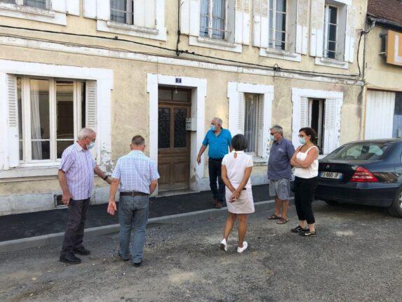 Visite de chantier - Commission de travaux - Mairie Charmes Aisne