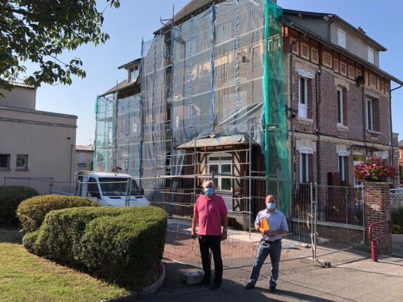 travaux de la façade Nord de la mairie#01_Mairie Charmes Aisne